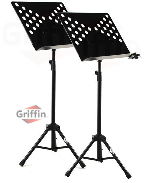 2 pack music stand deluxe conductor sheet metal tripod
