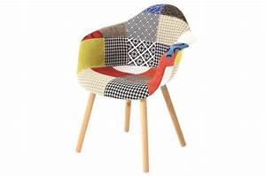 Fauteuil Scandinave Patchwork : chaise scandinave avec accoudoirs patchwork forway design sur sofactory ~ Teatrodelosmanantiales.com Idées de Décoration