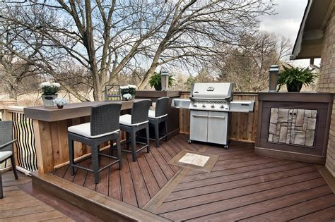 Nook Bar Design by A Barbeque Nook With Side Tables A Built In Cabinet And