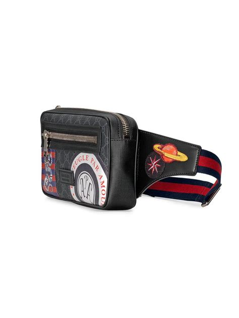 gucci leather night courrier soft gg supreme belt bag