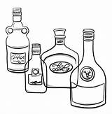 Clip Bottle Whiskey Labels Illustrations Vector Alcohol sketch template