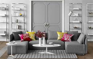 69 fabulous gray living room designs to inspire you for Decorating a living room with grey furniture