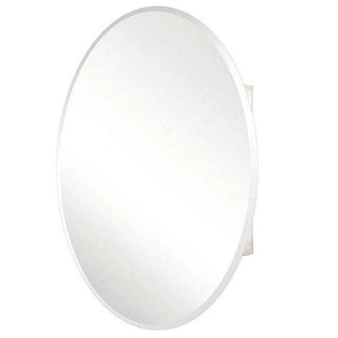 oval recessed medicine cabinet pegasus 24 in x 36 in recessed or surface mount oval