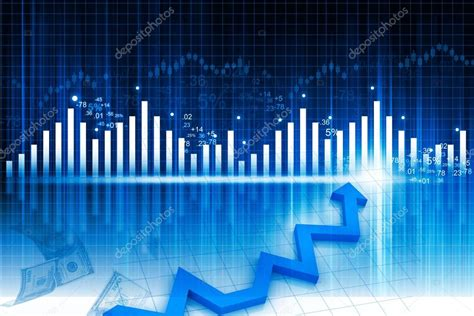 Abstract Economics Wallpaper by Business Graph On Abstract Financial Background Stock