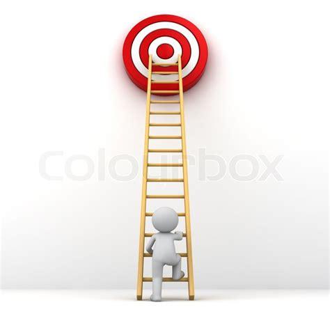 best dart board 3d man climbing ladder to the red goal target business