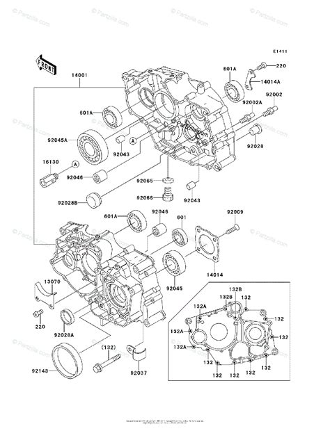 Kawasaki Atv Oem Parts Diagram For Crankcase