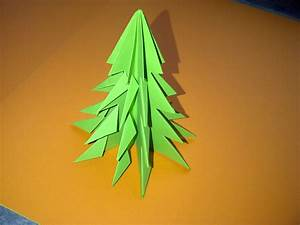 Tannenbaum Falten Anleitung : tannenbaum falten weihnachtsbaum selber basteln ideen ~ Lizthompson.info Haus und Dekorationen