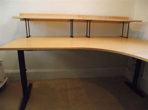l shaped desk ikea very large ikea corner l shaped desk good condition