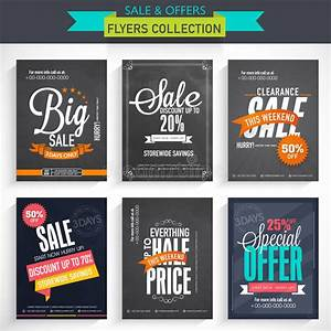 Set Of Sale Flyer Collection. Stock Illustration - Image ...