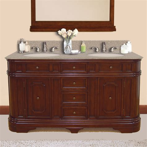 Lanza Products 60in Double Sink Bathroom Vanity With