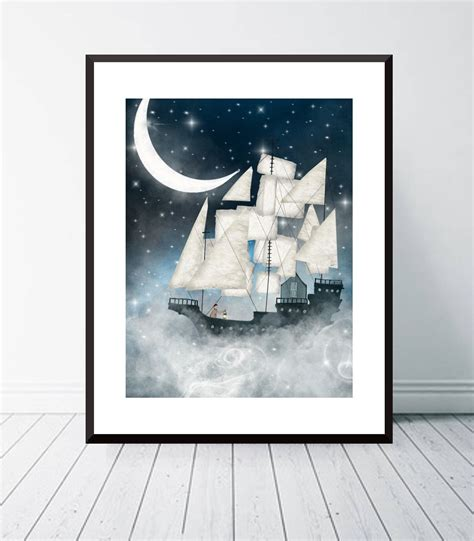 Wall decor and art for nurseries. Sky full of stars. Nursery wall art, Nautical art, Adventure wall art, Space and galaxy ...