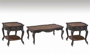 colmar dark gray graphite wood 3pc coffee table set With gray wood coffee table set