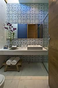 Carreaux De Ciment Salle De Bain : 1001 id es pour am nager une salle de bain en carreaux ~ Melissatoandfro.com Idées de Décoration