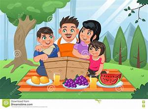 Family Having Picnic Together Stock Vector - Image: 73921900