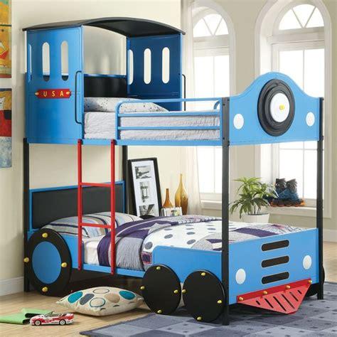 furniture  america blue train locomotive metal youth