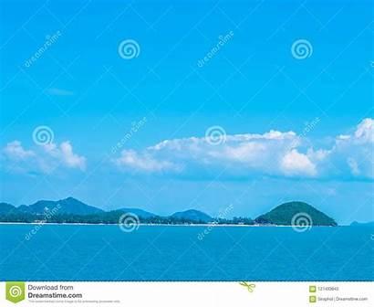 Sky Ocean Cloud Sea Copy Space Island