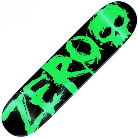 zero skateboards zero blood green skateboard deck 7 875