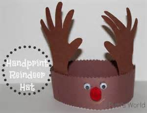 handprint reindeer hat putti s world kids activities