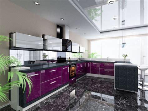 cuisine aubergine et grise cuisine couleur aubergine inspirations violettes en 71 idées