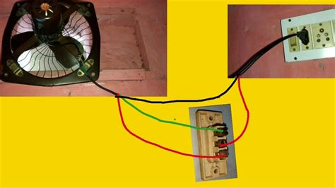 Separate switches for bath fan and light from single switch in a 1960's house. Exhaust Fan - Two Way Switch Connection Diagram - YouTube