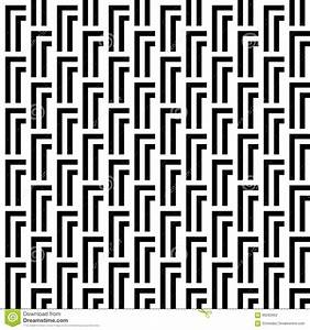 Seamless Black And White Abstract Modern Pattern Stock ...
