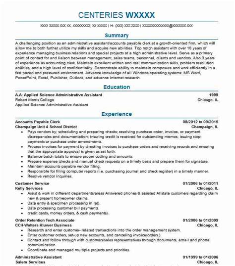 Accounts Payable Clerk Resume by Accounts Payable Clerk Resume Objectives Resume Sle