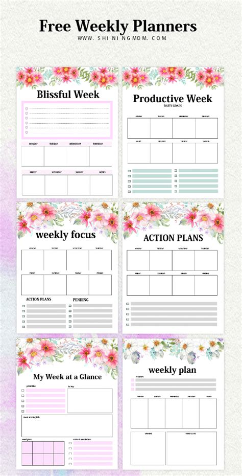 weekly planner template   brilliant designs