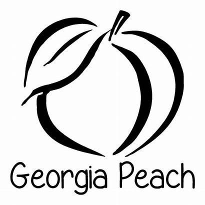 Peach Georgia Stickers State Decals Georgiapeach Lady
