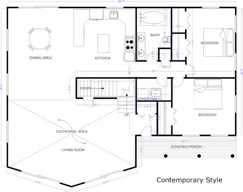 blueprint for houses blueprint software try smartdraw free