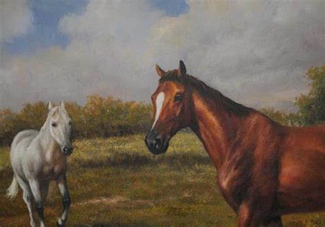 horse  pony victorian oil painting pastoral landscape