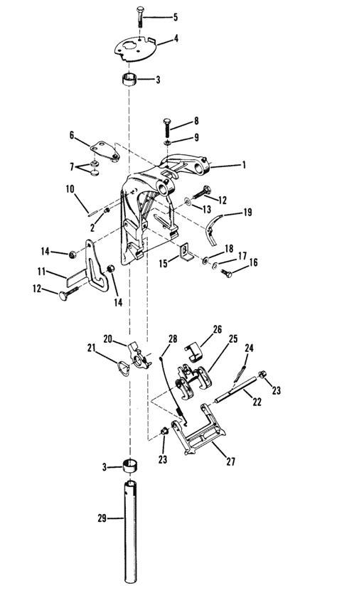 mercury marine  hp  cylinder swivel bracket assembly