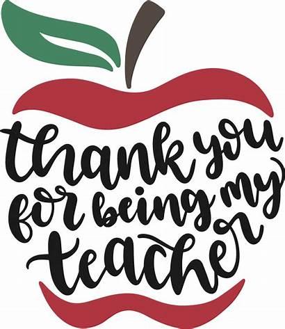 Teacher Svg Clipart Thank