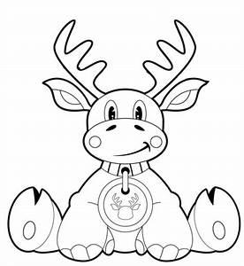 Elch Vorlage Kostenlos : kostenlose malvorlage weihnachten sitzender elch zum ausmalen ~ Lizthompson.info Haus und Dekorationen