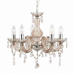 Marie Therese Chandelier Ceiling Light In Champagne    Mink