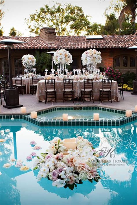 Pool Decoration by Captivating Wedding Pool Decoration Ideas 10