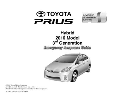 security system 2009 toyota prius user handbook toyota prius hev erg 3rd gen manual