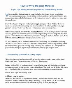 Format To Writing Minutes Meetings Minutes Writing Template 10 Free Word Pdf Documents