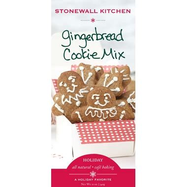 buy stonewall kitchen gingerbread cookie mix  wellca