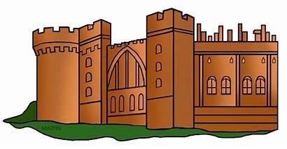 Castle Medieval Castles Clipart Clip Ages Middle