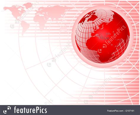 templates red globe abstract business background stock
