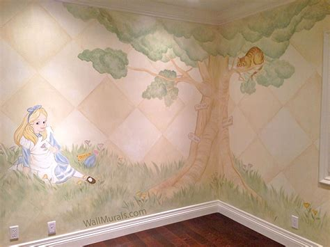 tree wall murals hand painted trees  walls wall