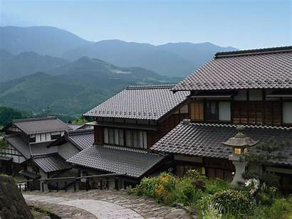 Japanese Japan Traditional Country Houses Side Architecture