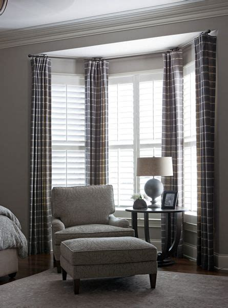 bay window curtains ideas  pinterest curtains