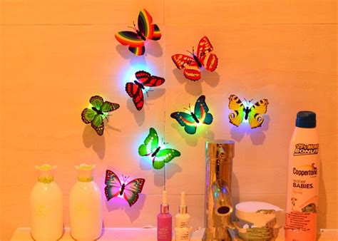 lovely creative color changing abs butterfly led