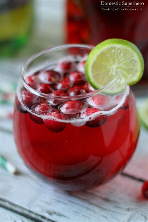 holiday cocktail recipes cranberry ginger cocktail mocktail domestic superhero