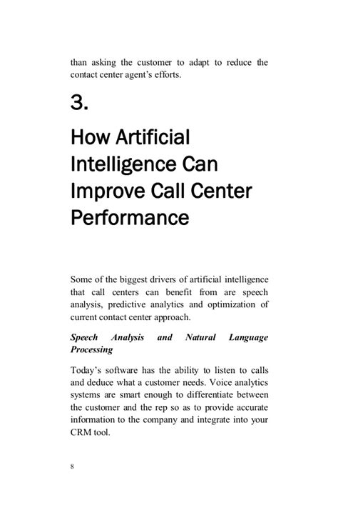 The Future of Contact Centers Artificial Intelligence