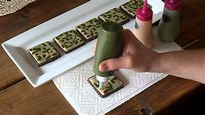 camouflage cookie tutorial youtube With what kind of paint to use on kitchen cabinets for removing candle wax from candle holder