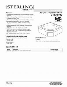 Corner Bath 71131100 Manuals