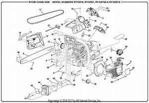 Homelite Ry10521a 46cc Chain Saw Parts Diagram For General