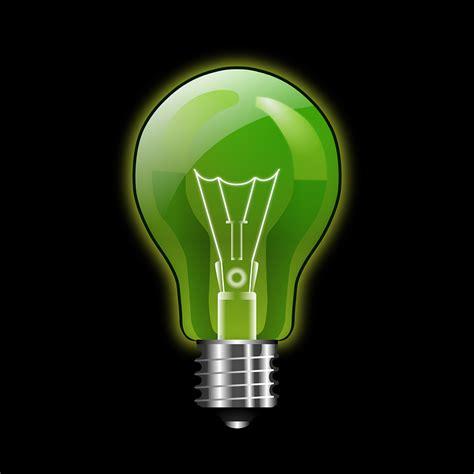 green light bulbs free vector graphic glow green light bulb free image